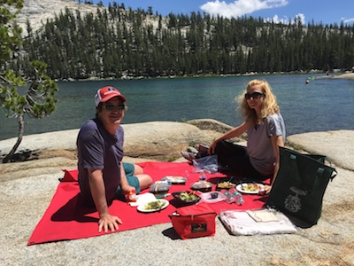 Picnic by Yosemite's Tenaya Lake